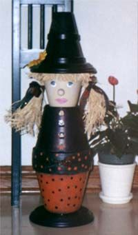 Clay Pot Witch Craft Project