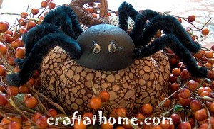 styrofoam ball spiders