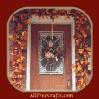 garland of fall leaves