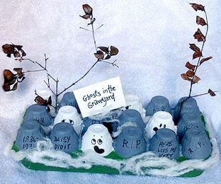 egg carton ghosts
