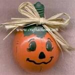 Recycled Light Bulb Pumpkin