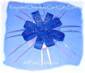 gift bow made from cards