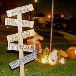 Spooky Yard Stake Signs