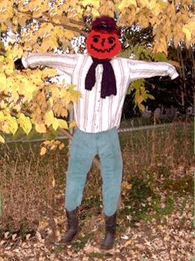 tent pole scarecrow