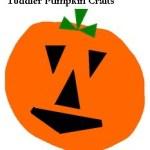 Toddler Pumpkin Crafts