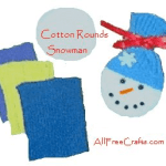 cotton rounds snowman