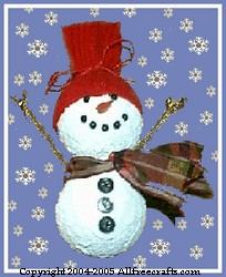frosty snowman lightbulb