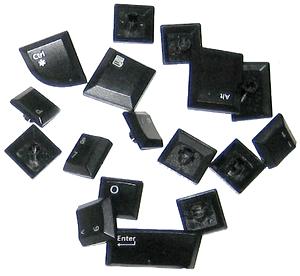 loose keys from a keyboard