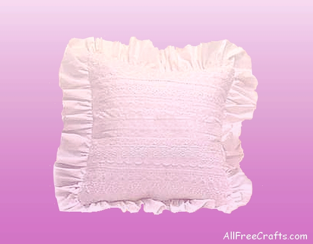 home sewn lace pillow