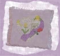 paint stitch pillow