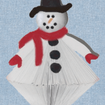 paperback book snowman