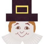 paper plate pilgrim man