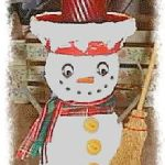 Clay Pot Snowman Candle