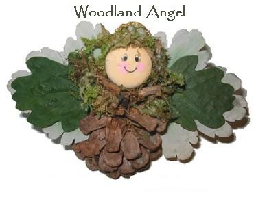 woodland pine cone angel