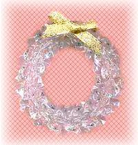 beaded crystal wreath