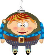 Elf Clip Art Ornament - maybe my inspiration for another elf light bulb!