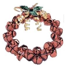 homemade jingle bell wreath