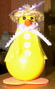 Recycled Light Bulb Duck