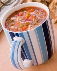 minestrone in a mug