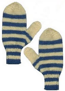 Knitting Patterns Striped Gloves : Striped Mittens - Free Knitting Pattern