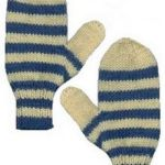 striped mittens knitting pattern