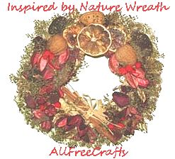 nature wreath on recycled base
