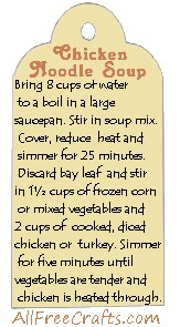 chicken noodle jar label