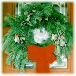 Homemade Pine Wreath