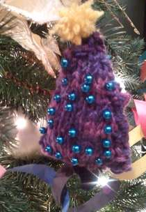 Knitted Christmas Tree Ornament