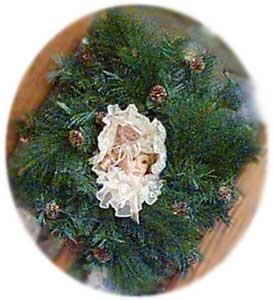 victorian doll square wreath