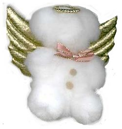 pom pom teddy bear angel