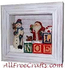 Homemade Christmas Shadow Box