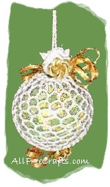 crocheted potpourri ball