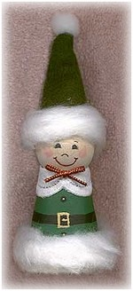 clay pot elf ornament