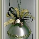embellished glass ball