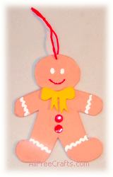 homemade craft foam gingerbread man