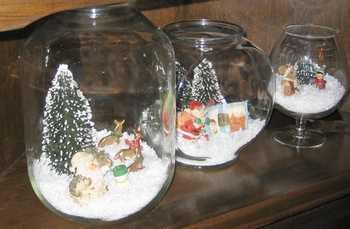 Christmas display under glass