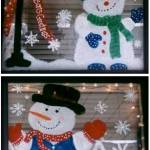 painted christmas windows