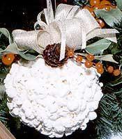 popcorn ball ornament
