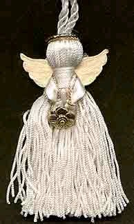 Ribbon tassel angels craft for Craft angels to make
