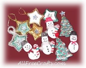 Microwave Salt Dough Christmas Decorations