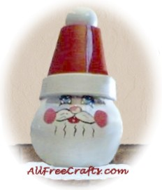 glass santa bowl