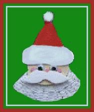 Santa fan decoration