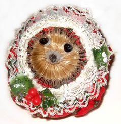 teasel hedgehog tree ornament
