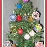 glass ball ornaments on tree