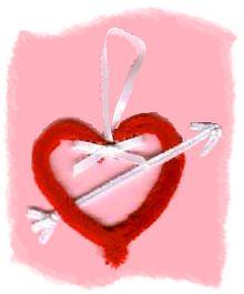 chenille heart
