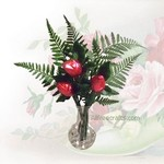 chocolate kisses in vase
