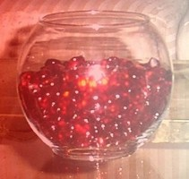 red bowl candle