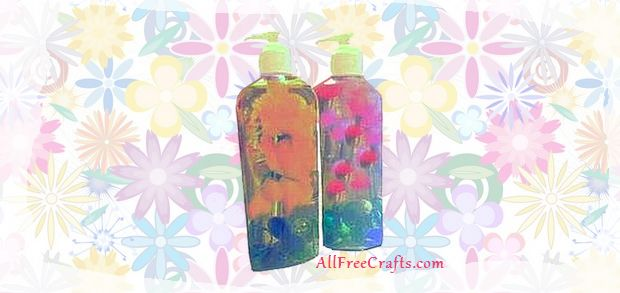 recycled liquid soap bottles