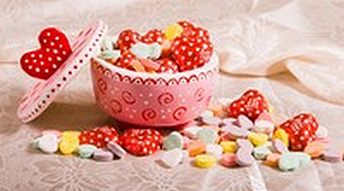 salt dough candy dish